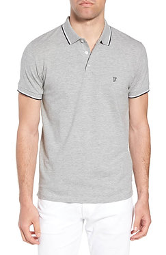 French Connection Cotton Grey Melange Polo Shirt