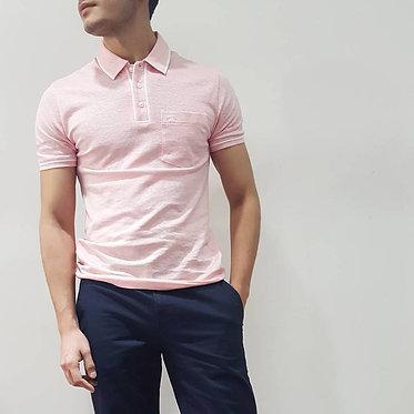 Original Penguin Earl Linen Pink Icing Polo Shirt