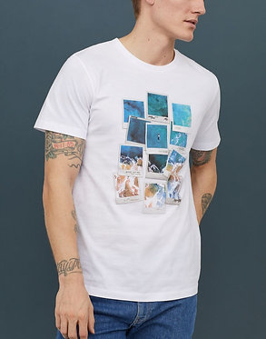 H&M Men's Polaroid Graphic T-shirt