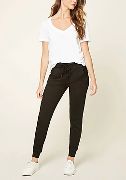 FOREVER 21 Black French Terry Knit Sweatpants
