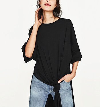 ZARA Woman Long Knotted T-Shirt