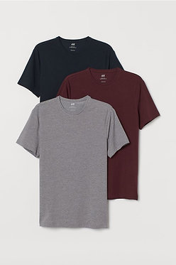 H&M Men's 3-pack Slim Fit T-shirts