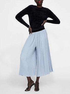 ZARA Pleated Trousers Dust Blue
