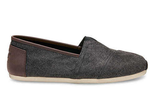 TOMS Men's Charcoal Herringbone Classics