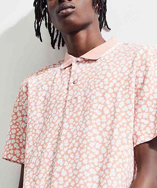 UO Pique Peach Polo Shirt