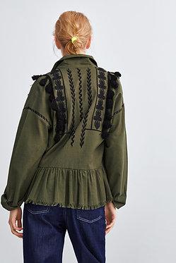 ZARA Rustic Jacket with Pompoms
