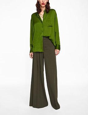 ZARA Pants with Asymmetrical Pleats