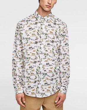 ZARA MAN Printed Voile Shirt