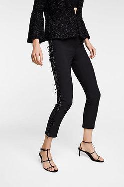 ZARA Pants with Beaded Fringe
