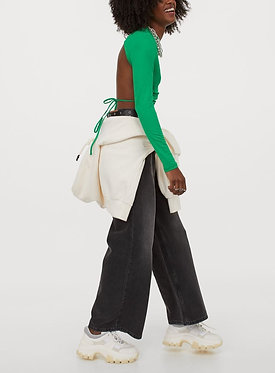 H&M Green Open-backed Top