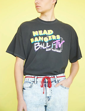 FOREVER21 MTV Head Bangers Ball Graphic Unisex Tee