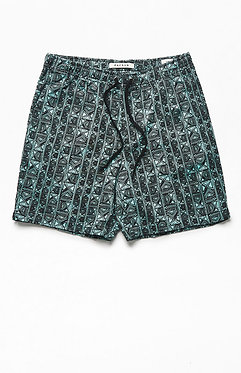 PacSun Mint Stretch Twill Volley Shorts