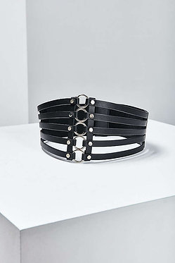 Wide Metal Ring Belt