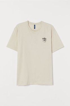 H&M Beige T-shirt with Motif