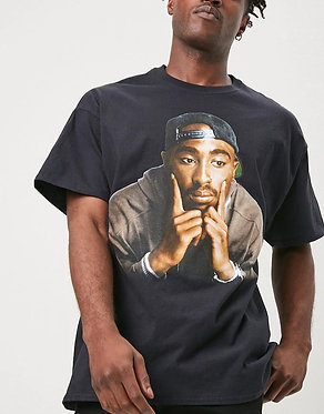 FOREVER21 Men's Tupac Graphic Tee