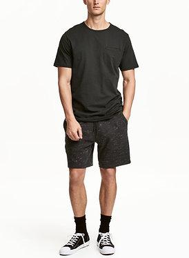 H&M Black Melange Sweatshorts
