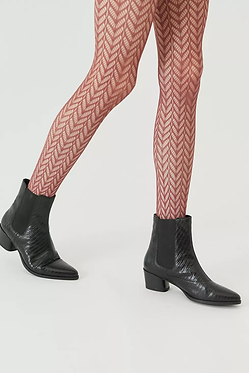 UO Maroon Pattern Lace Tight