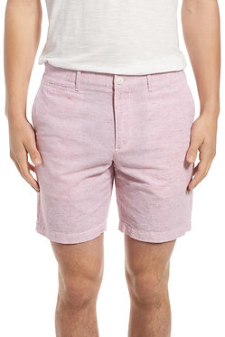 Original Penguin Horizontal Stripe Cotton & Linen Shorts