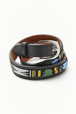 UO Beaded Western Leather Belt