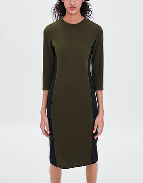 ZARA Color Block Knit Dress