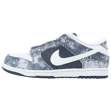 Nike Infant/Toddler White/Blue Low Slip-on Sneakers