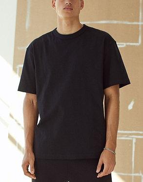 H&M Men's Black Oversized Cotton T-shirt
