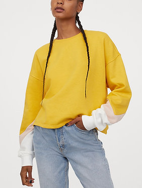 H&M Women's Yellow Sweatshirt