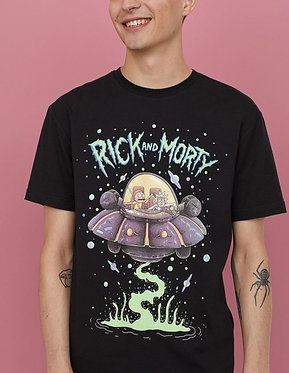 H&M Men's Rick and Morty Graphic T-shirt