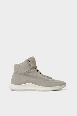 ZARA MAN Gray Leather High Top Sneakers