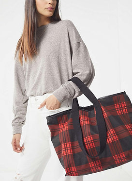 Urban Outfitters Reversible Plaid Tote Bag