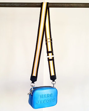 Marc Jacobs Flash Leather Blue Crossbody Bag