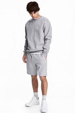 H&M Men's Gray Melange Sweatshorts