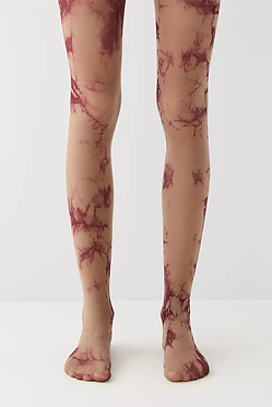 UO Brown Tie-Dye Opaque Tight