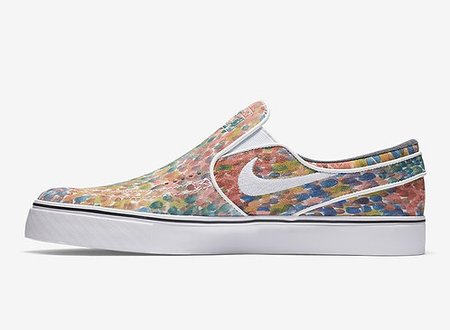 Nike SB Men's Zoom Stefan Janoski Slip-On Water Color
