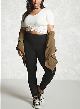 FOREVER21+ Plus Size High-Waist Leggings