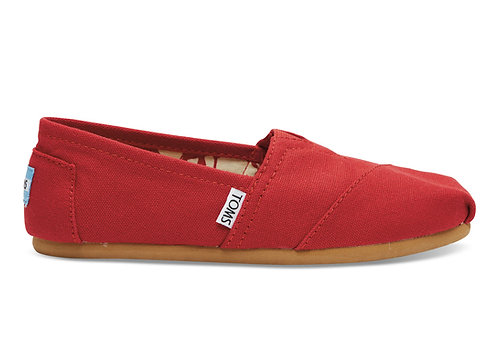 TOMS Red Canvas Classics