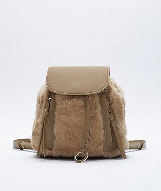 ZARA Faux Fur Backpack