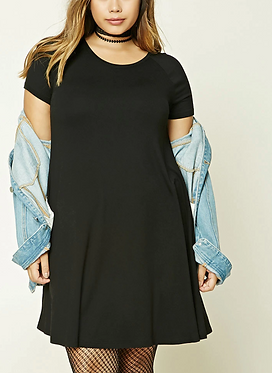 FOREVER 21+ Black Swing Dress