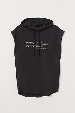 H&M Men's Sleeveless Sports Shirt with Printed Text