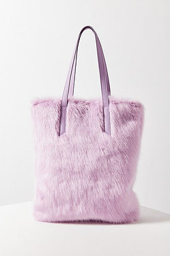 Urban Outfitters Faux Fur Lavender Tote Bag
