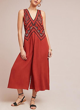 Anthropologie  Maeve Desert Embroidered Jumpsuit