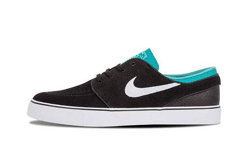 Nike SB Men's Zoom Stefan Janoski Blk/Wht/Grn Sneakers
