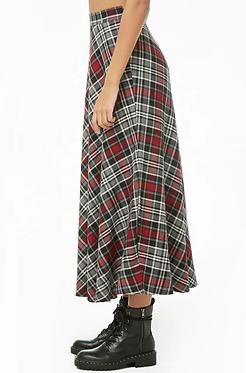 FOREVER21 Plaid Maxi Skirt