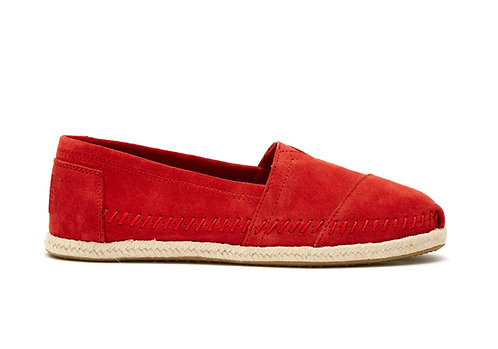 TOMS Red Suede Rope Sole Classics