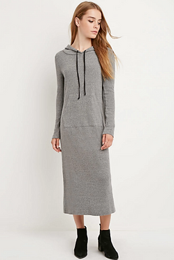 FOREVER 21 Hoodie Maxi Dress