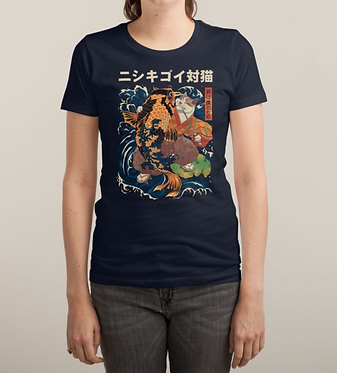 The Cat and the Koi Women's Tee