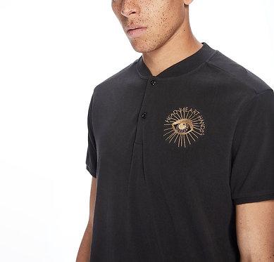 SCOTCH & SODA Bomber Collar Polo Shirt