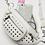 Thumbnail: Danni White Studded Faux Leather Belt Bag