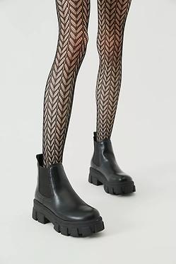 UO Black Pattern Lace Tight