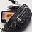 Thumbnail: Danni Black Studded Faux Leather Belt Bag